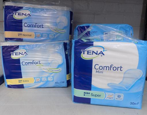 6x Selection of Tena Comfort mini pads