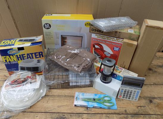 Box of electrical items, new & vintage