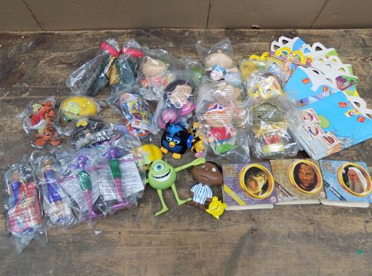 Large collection of McDonald's collectable happy meal toys