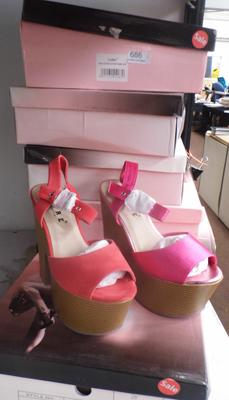 6x Pairs of new ladies shoes