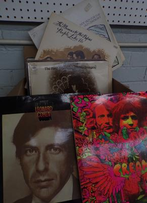 Collection of vinyl, incl. Cream, Dylan, Cohen, Al Stewart etc...