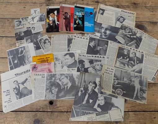 Assortment of 'Man from Uncle' incl. early press cuttings and paperbacks