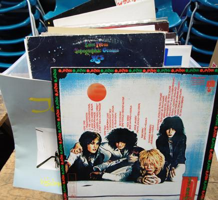 Crate of LP records incl. rock, punk, pop