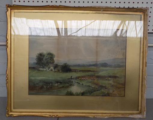Original watercolour by H.M. Smith, dated 1914