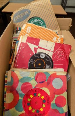 Box of collectable singles