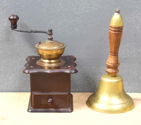 School bell and coffee grinder
