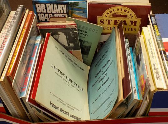 Selection of railway books