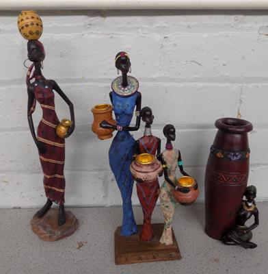 3 African figures - no damage