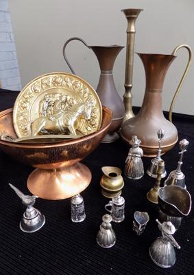 Collection of brass & copper