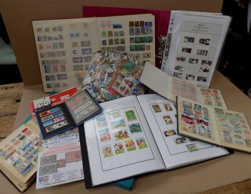 Box of stamps - albums, stockbooks, FDCs, loose etc...