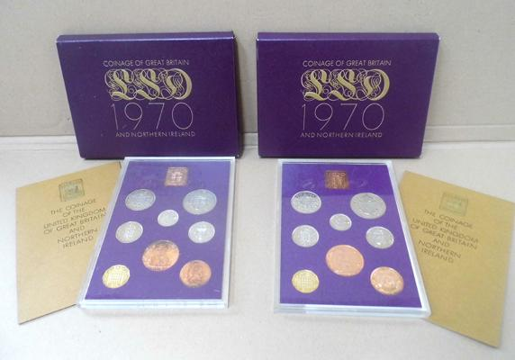 2x 1970 Royal Mint proof coin sets