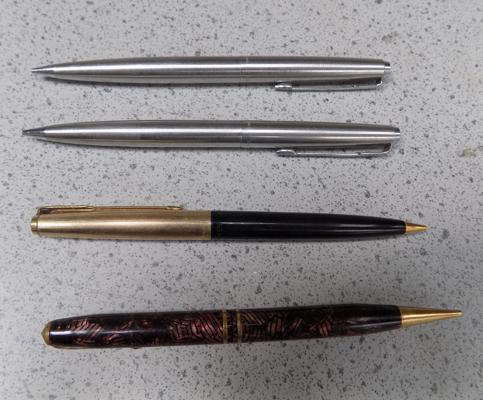 4x Propelling pencils inc Parker & Conway Stewart