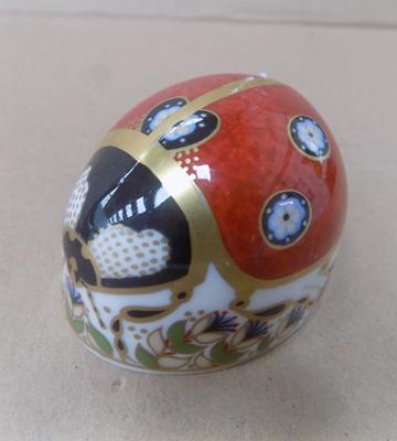 Royal Crown Derby silver stopper ladybird
