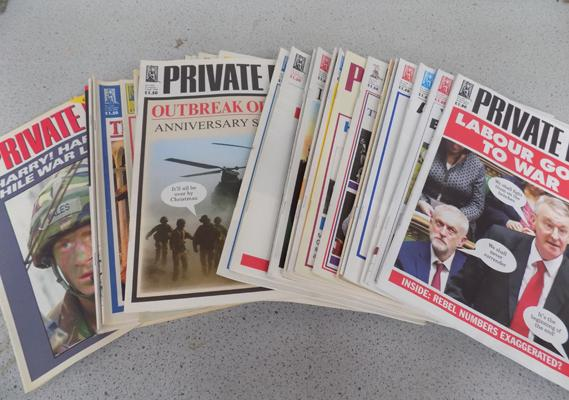 Selection of Private Eye magazines
