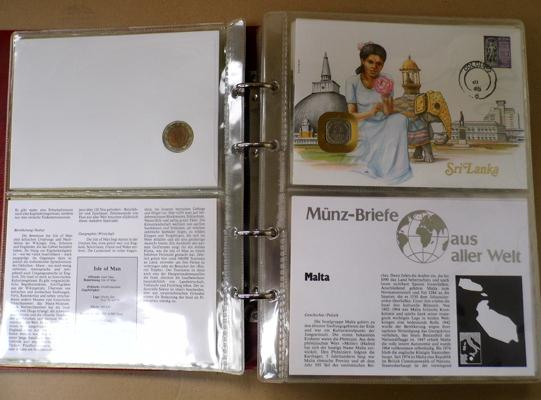 Munz-Briefe coin lover album incl. 30x world 1st day coin cover