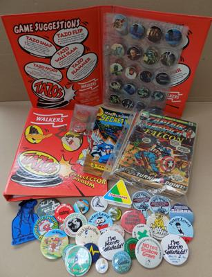 Mix of collectable American comics, collection of Tazo's incl. Star Wars and badges