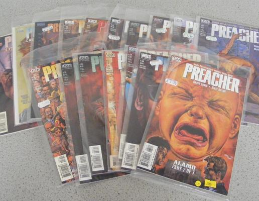 17 vintage adult comics (all unopened) in sleeves 'Preacher'