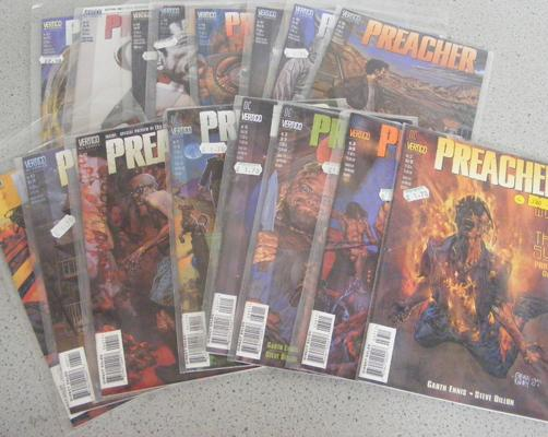 16 vintage adult comics (all unopened) in sleeves 'Preacher'