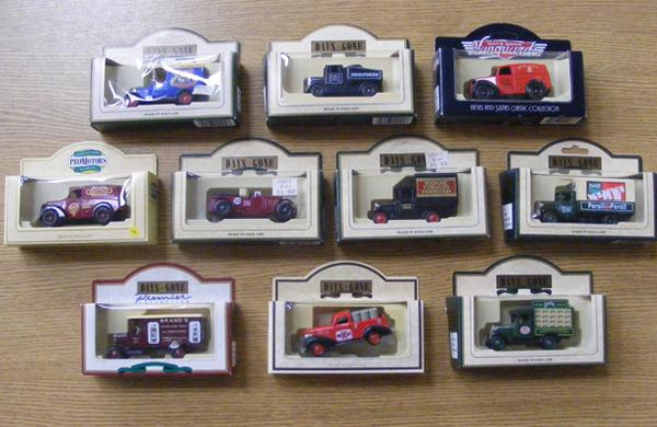 10 boxed diecast cars