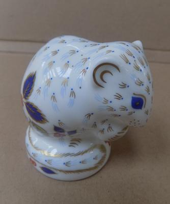 Royal Crown Derby gold stopper doormouse