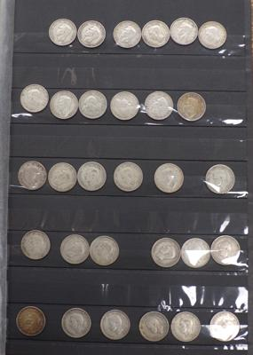 30 pre 1947 one shilling pieces