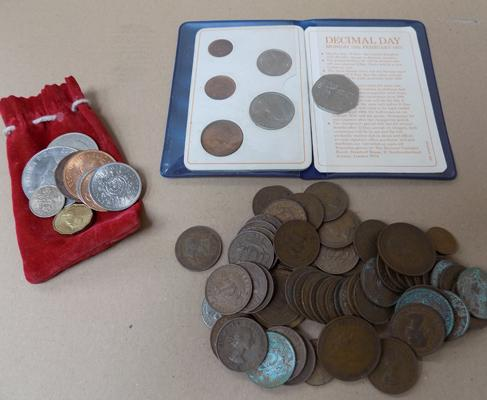 Selection of coins incl. decimal set