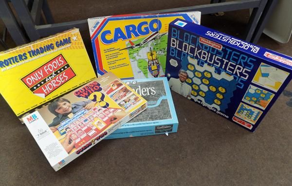 Selection of vintage board games