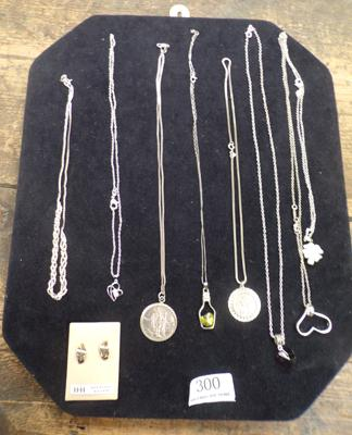 Selection of silver pendants