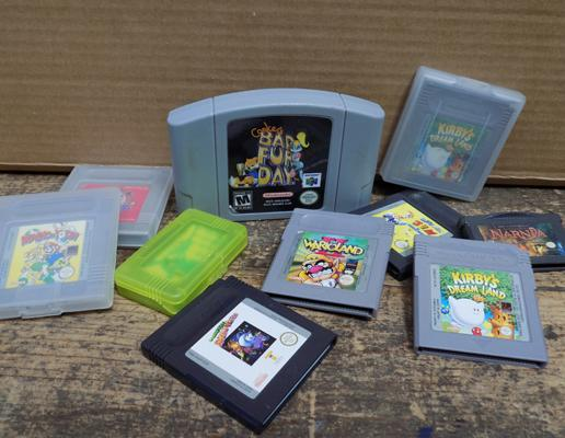 Selection of vintage games incl. Gameboy, GBA, N64