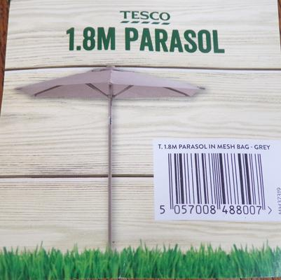 1.8 metre parasol, new in  pack