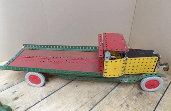 Large 1950's/ 60's Meccano lorry flat back, long nose