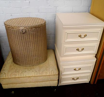 2 bedside drawers - buffet and basket