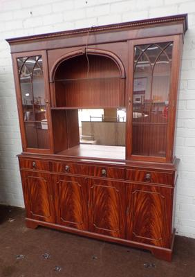 Large glass fronted dresser