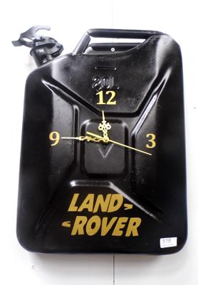 Upcycled 20 litre jerry can - Land Rover design clock
