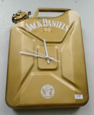 Upcycled 20 litre jerry can - Jack Daniels design clock