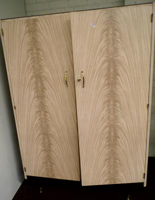 Retro melamine wardrobe - some assembly required
