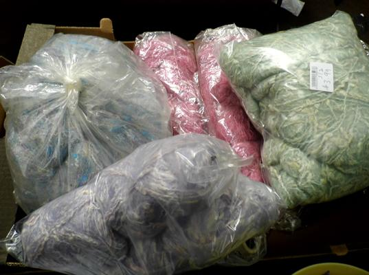 Selection of mohair & other wool