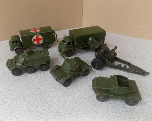 Assortment of military Dinky vehicles