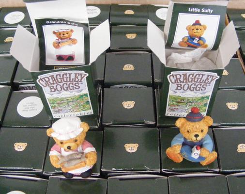 Large selection of Craggley Boggs teddy bears - over 300