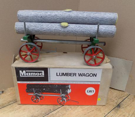 Boxed Mamod no.LW.1 Lumber wagon - mint condition