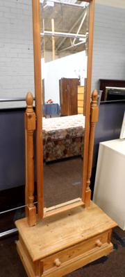 Pine bedroom chevelle mirror and clothes rail