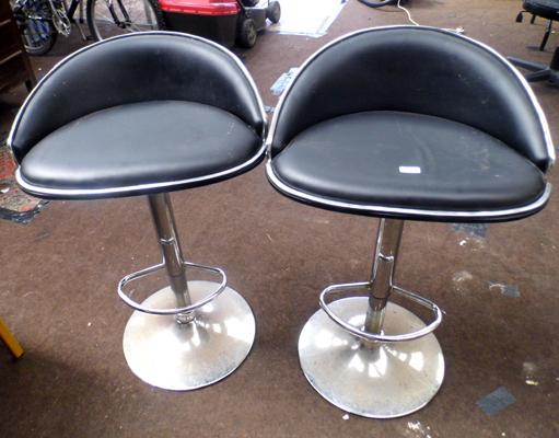 Pair of bow back stools