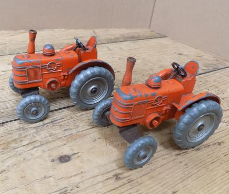 Pair of 1949 Dinky field marshall tractors - No. 301
