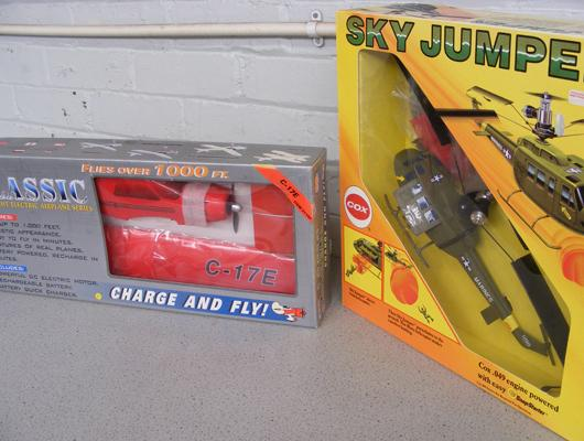 2 boxed large scale remote control planes - unopened