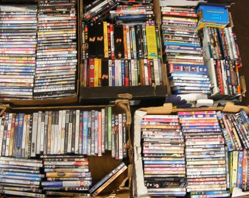 5 x boxes of DVDs - mixed
