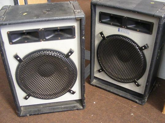 Pair of eminence P.A speakers