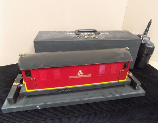 Remote control Lancashire Fusilier (in case) battery powered diesel locomotive, garden railway model