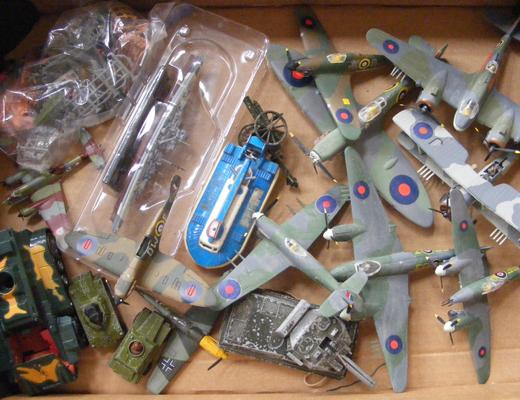 Box of military planes - tanks and ships