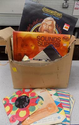 Box of LPs & singles