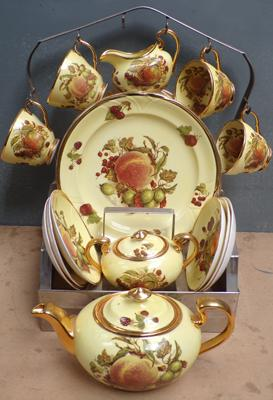 Part teaset of Canterbury fine china